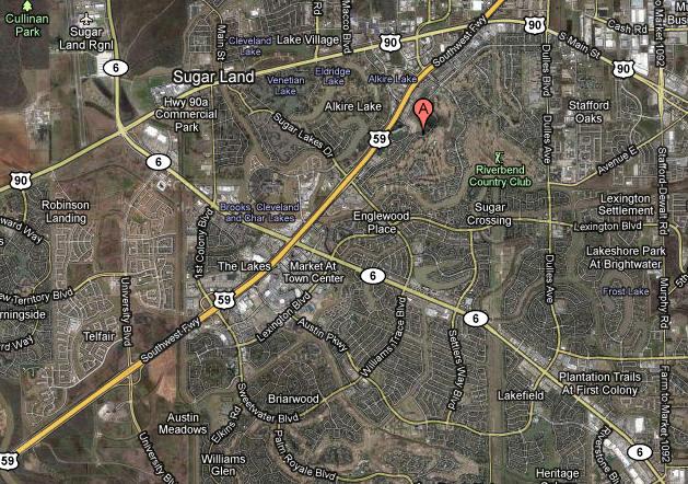Map Sugar Creek Sugar Land TX