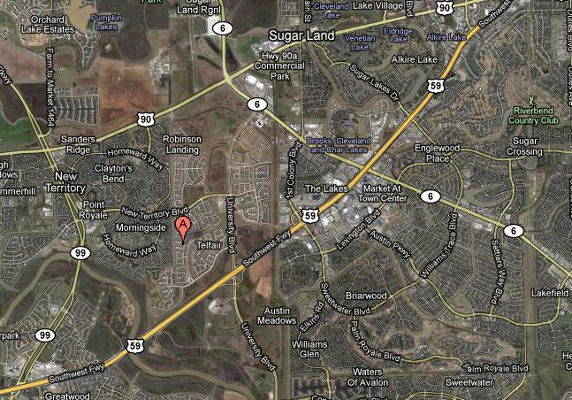 Map Telfair Sugar Land TX