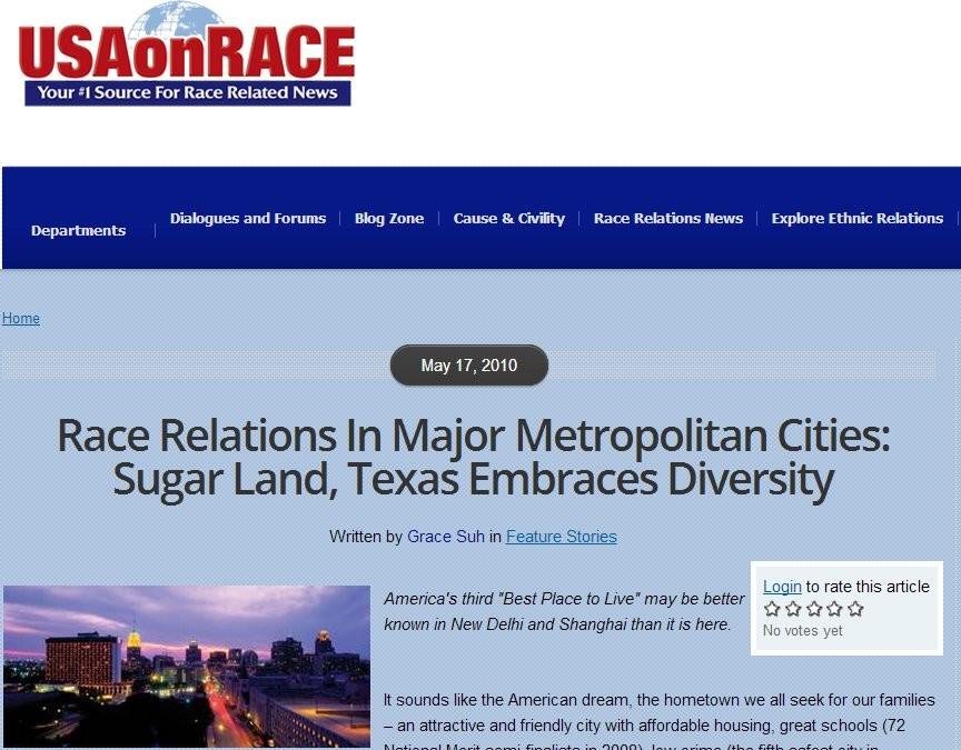 Sugar Land Demographics