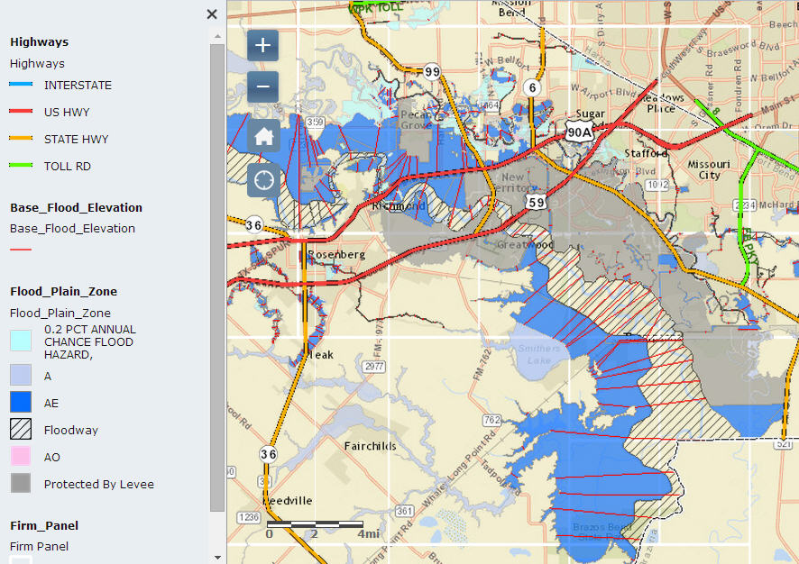 Sugar Land TX Flood Zones And Flood Map - Fema flood maps texas