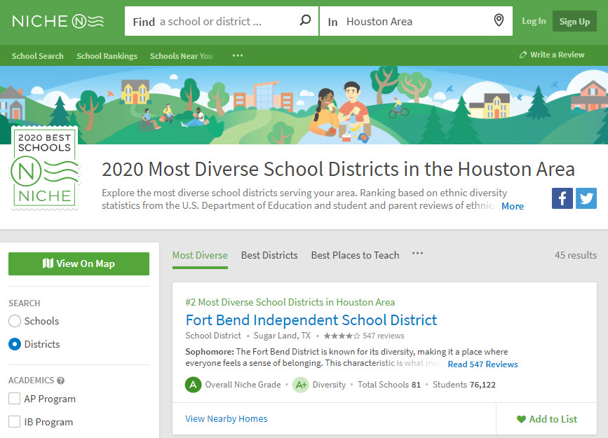 fort bend ISD ranking