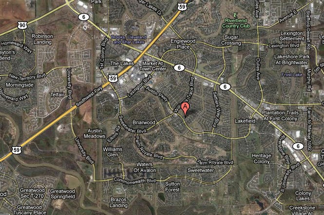 Map First Colony Sugar Land Texas