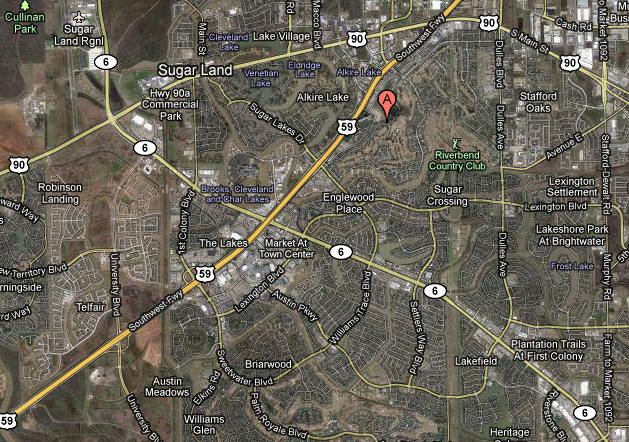 Map Sugar Creek Sugar Land TX