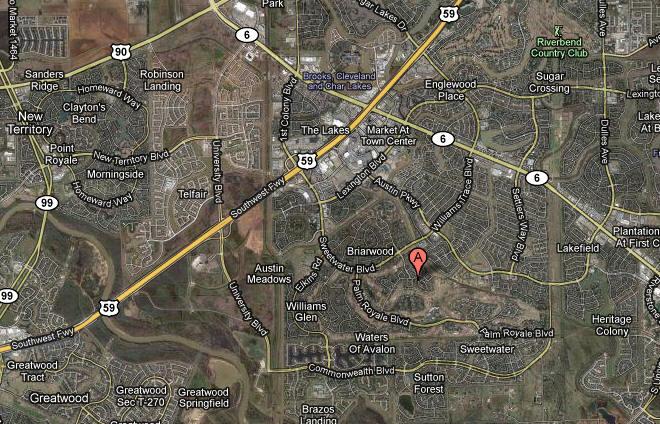 Map Sweetwater Sugar Land TX