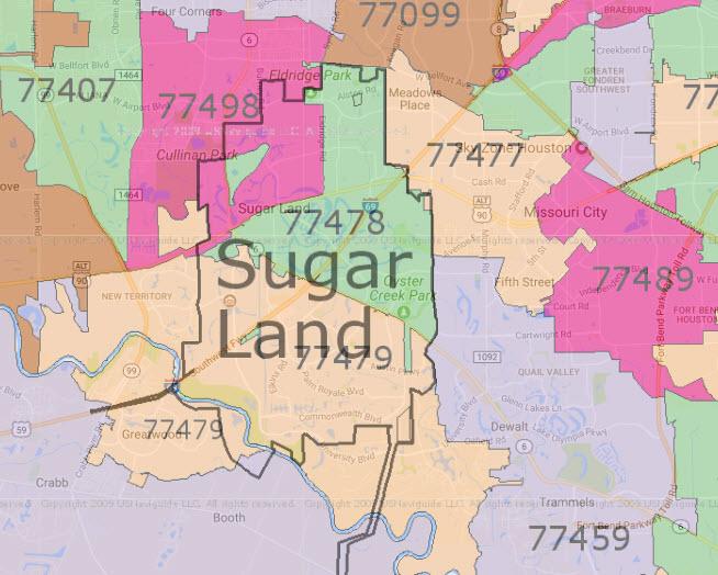 Sugar Land Tx Zip Code Map.Sugar Land Real Estate Market Sugar Land Neighborhoods And Real